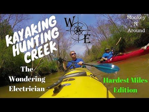 Kayak Camping Hunting Creek (Log jam edition)