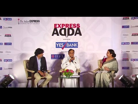 P Chidambaram At Express Adda