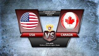 WW U18. SF USA - Canada