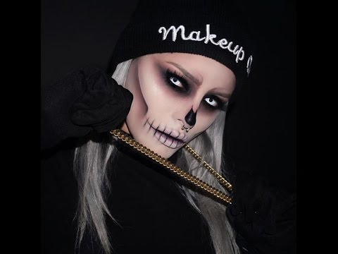 halloween skull makeup tutorial by itsisbelbedoya