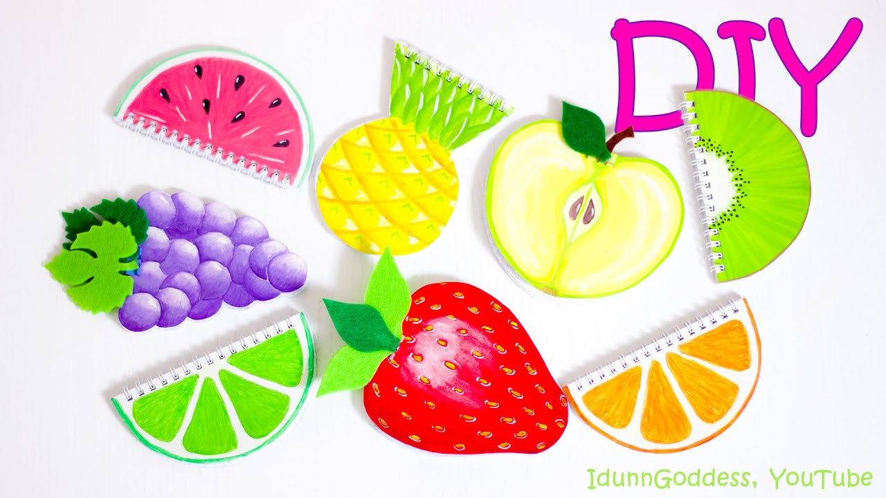 7 DIY Fruit Notebooks – How To Make Fruits Notebooks (tutorial ...