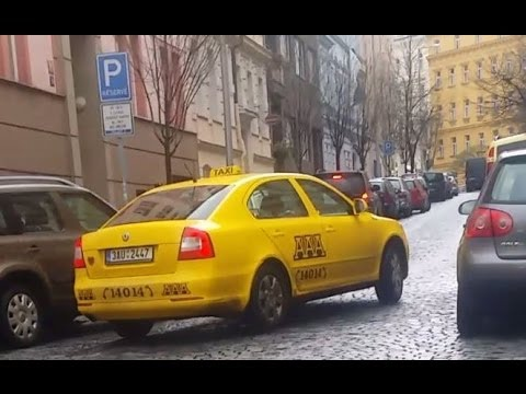 Taxi Prague in Czech Republic using turbo meter scam