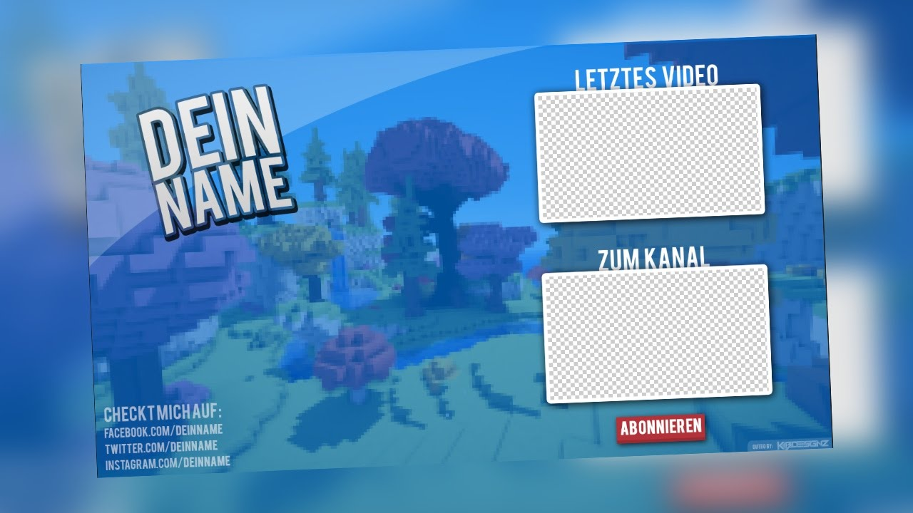OUTRO TEMPLATE (PSD) + Tutorial Sony Vegas | KBDESIGNZ - YouTube