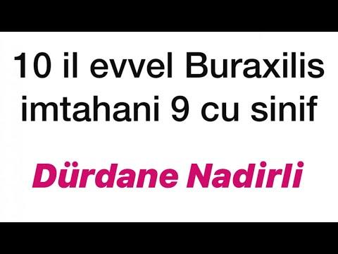 10 il evvel Buraxilis imtahani. 9 cu sinif .