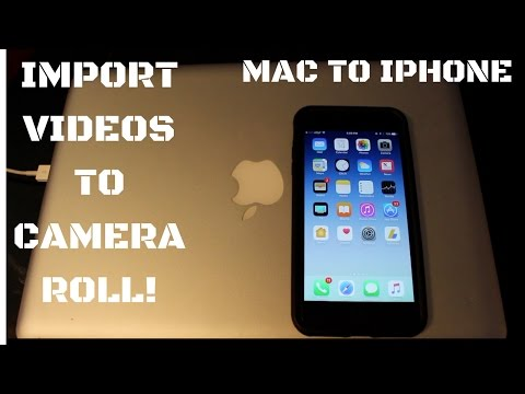 How to get a video from imovie on mac to iphone