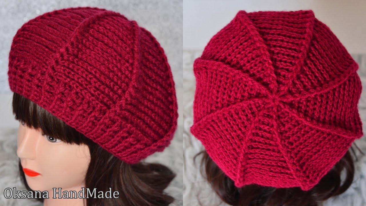 теплый берет крючком подробный мастер класс Warm Beret Crochet