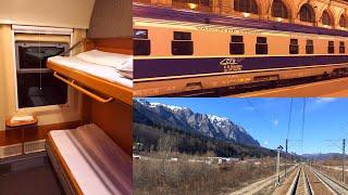 EuroNight Train Dacia Vienna - Bucharest in Romanian Sleeping Car