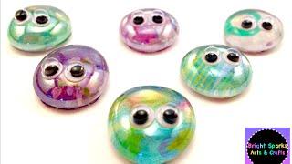 Cute Glass Bugs * Flat Back Marbles * DIY * Art Craft Fun