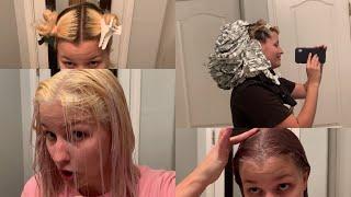 bleaching my hair during quarantine!!