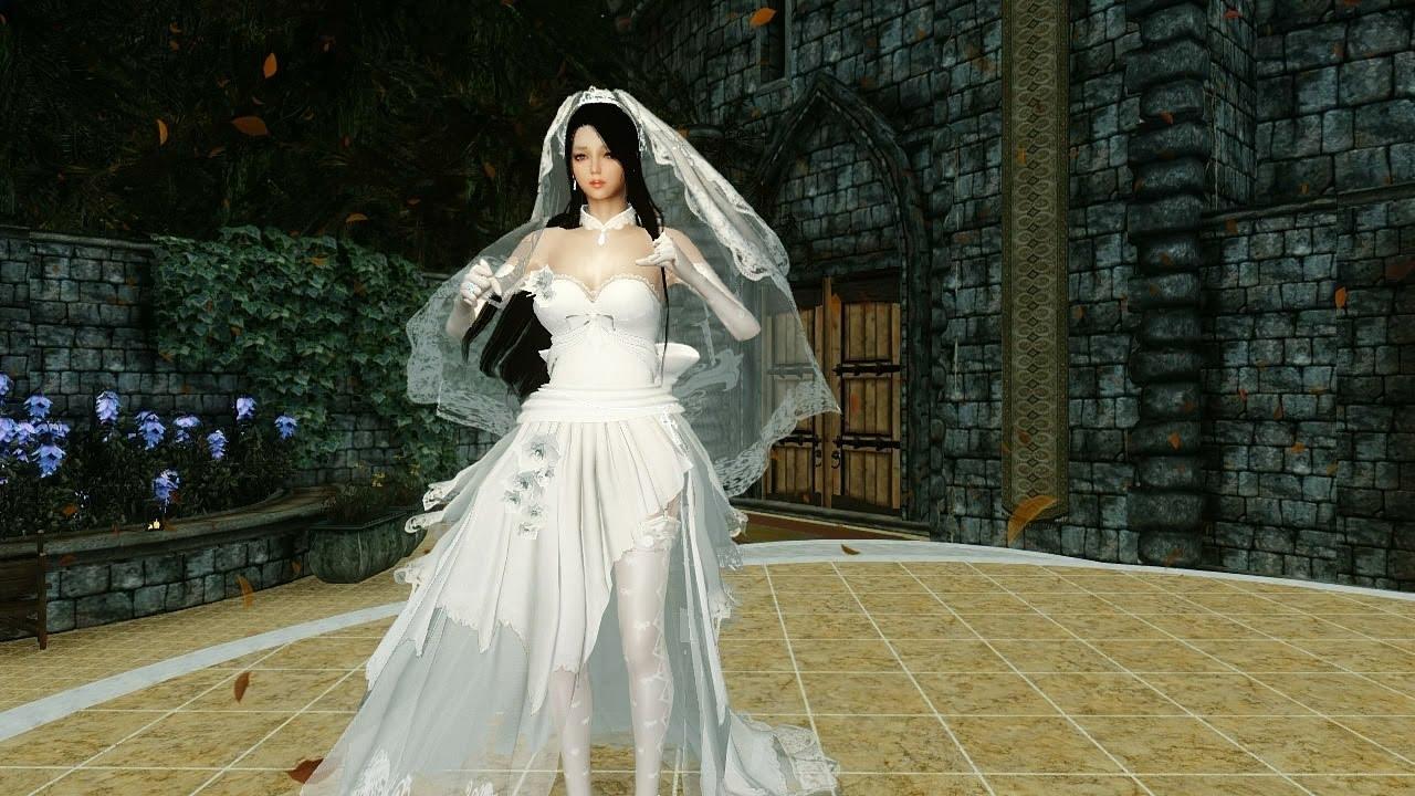 Skyrim Wedding Dress.Haku Wedding Dress Full Hdt Preview