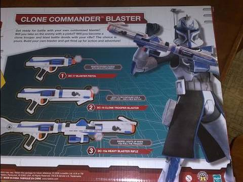 2009 Hasbro Star Wars Clone Trooper Ultimate Build Your Own Blaster