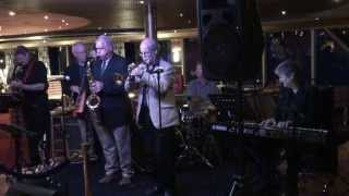 Pieter Meijers with band and Tony Davis on 2013 Alaska Cruise