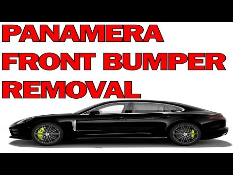 Panamera Bumper Removal - How to Remove Your Porsche Front Bumper