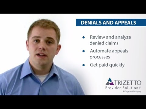 Denials and Appeals - TriZetto Provider Solutions - YouTube