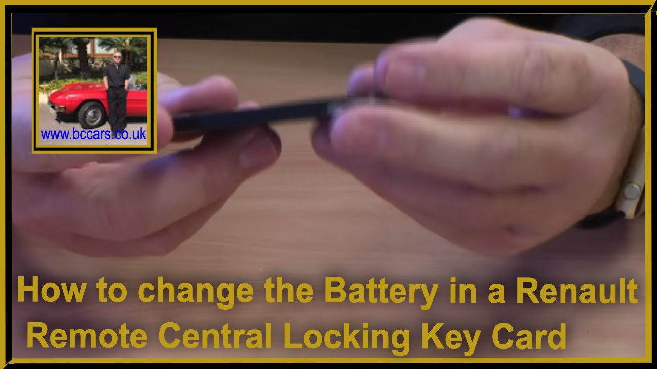 how to change the battery in a renault remote central locking key card using a flat head. Black Bedroom Furniture Sets. Home Design Ideas