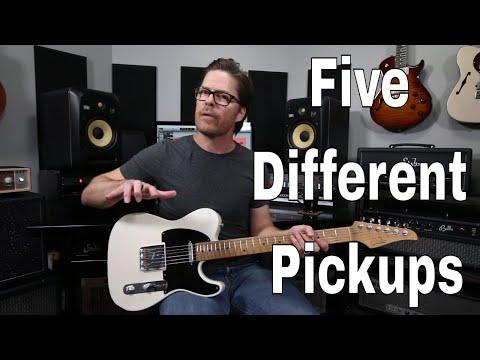 Single Coil vs P90 vs Tele vs Filtertron vs Humbucker Pickups Compared. Demo Video by Shawn Tubbs