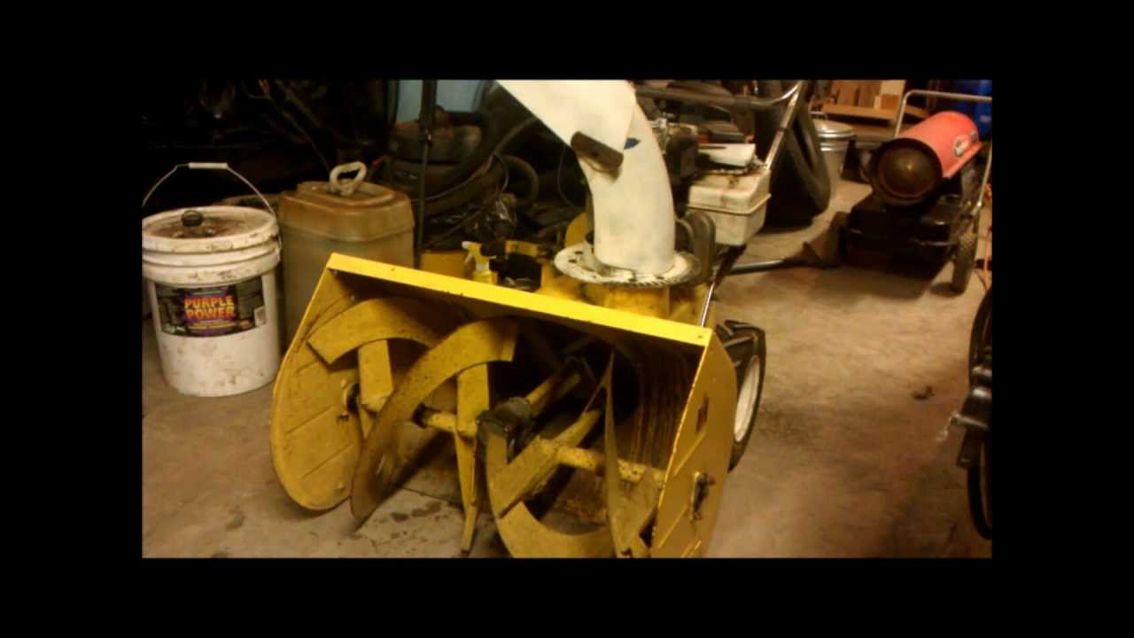 New purchase: Vintage Cub Cadet Snow Blower. - YouTube