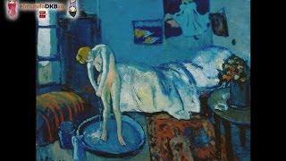 UNA DE LAS FOTOS MAS RARAS DE LA HISTORA EN PINTURA DE PABLO PICASSO (La Habitación Azul)