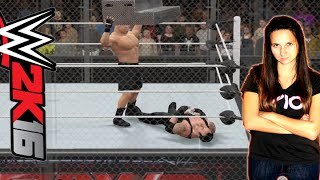 Undertaker vs Brock Lesnar - WWE 2K16 Hell in a Cell