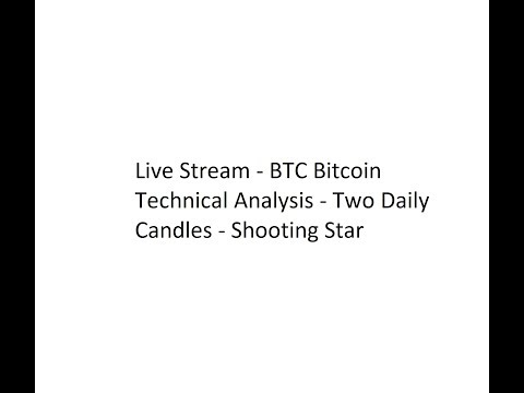 Live Stream - BTC Bitcoin Technical Analysis - Two Daily Candles - Shooting Star