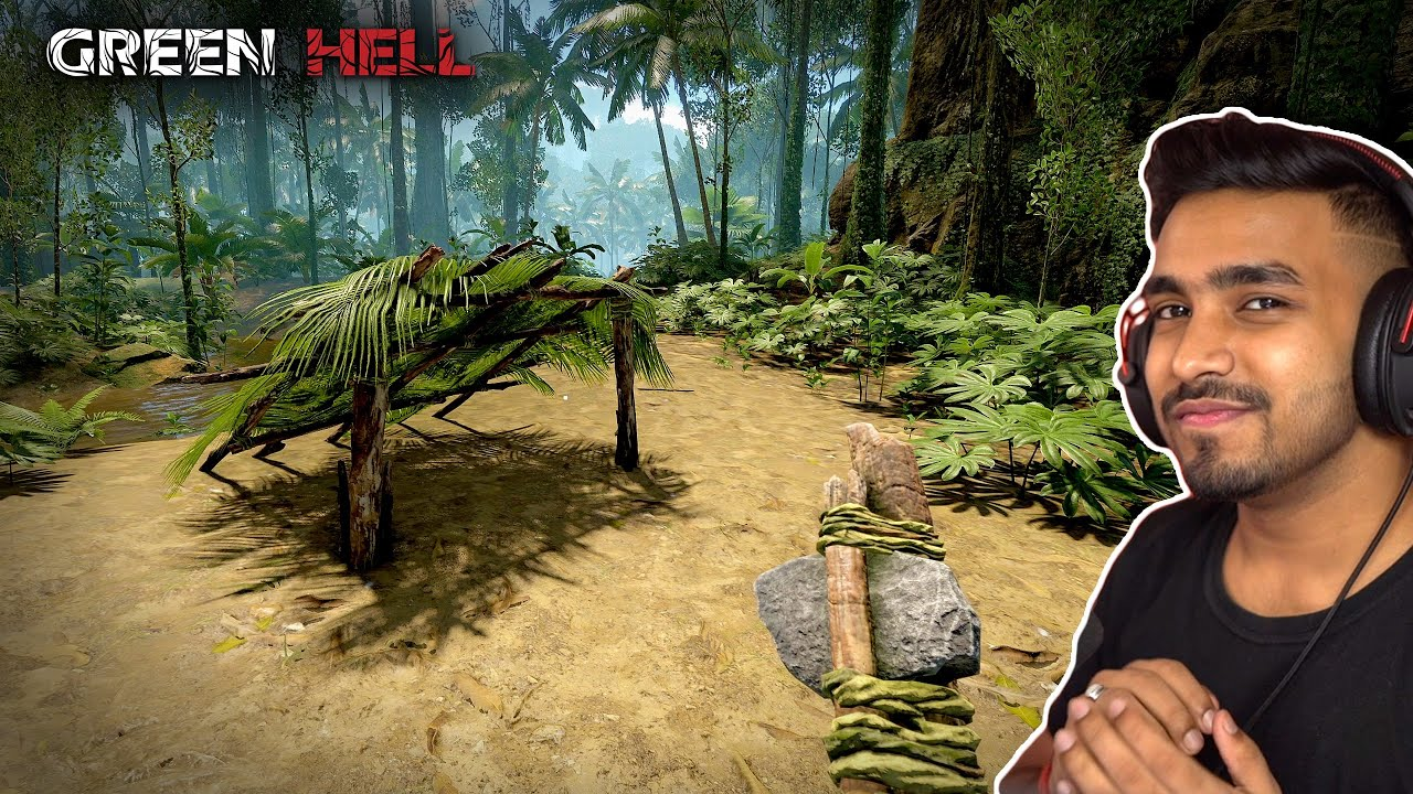 I BUILD A SMALL SHELTER IN THE JUNGLE | GREEN HELL GAMEPLAY #3