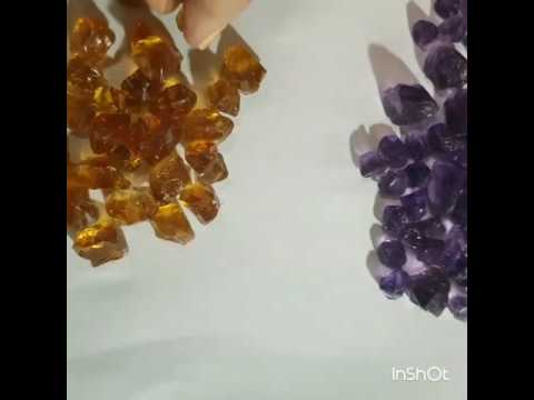 Amethyst and Citrine Clean Faceting Quality