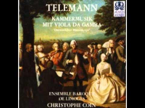 Telemann: Kammermusik mit viola da gamba (Coin)