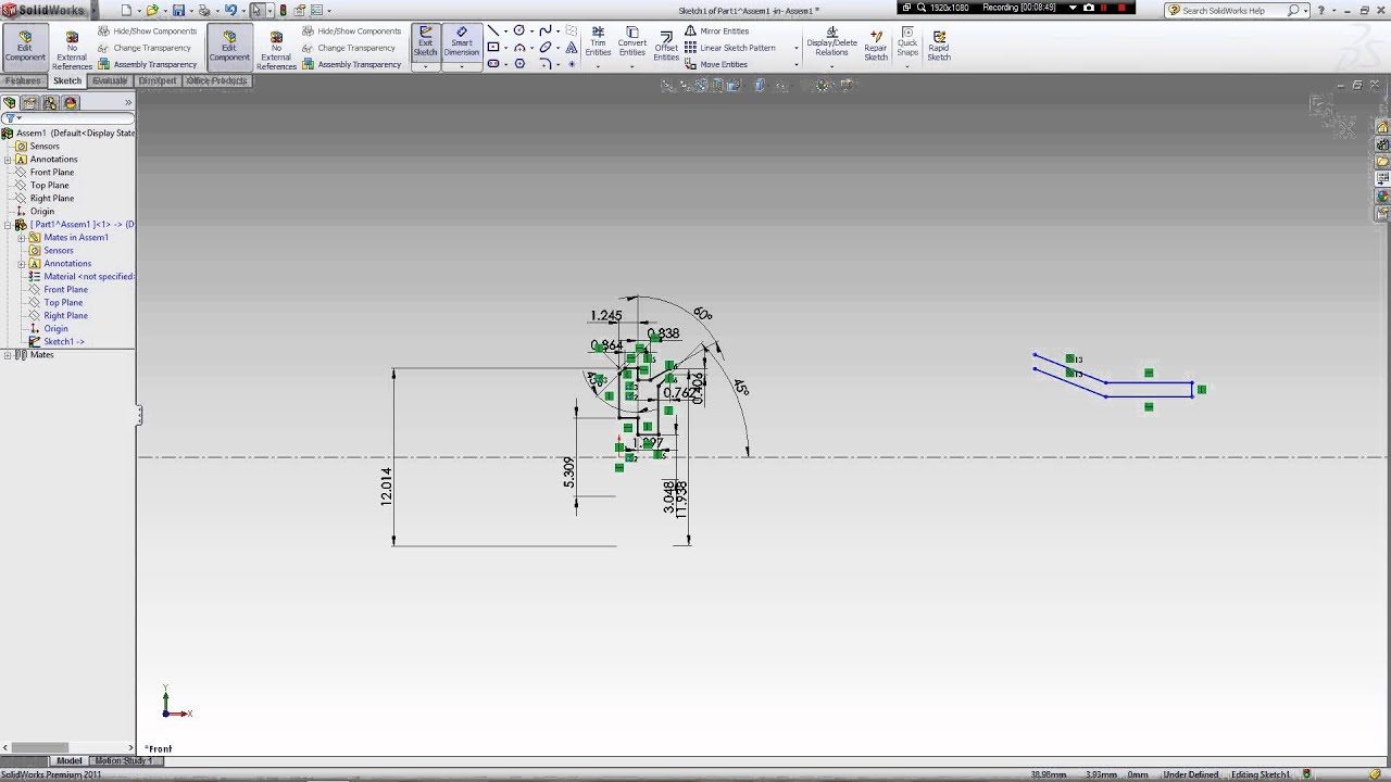 how to draw rifle cartridge and bullet in solidworks [ 1280 x 720 Pixel ]