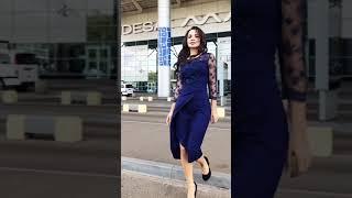 G 3177 Платье вечернее с гипюровыми вставками с имитацией запаха video