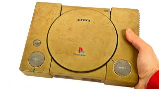 I Restored this Yellowed and Full off Hair Playstation PS1 - Retro Playstation Console Restoration