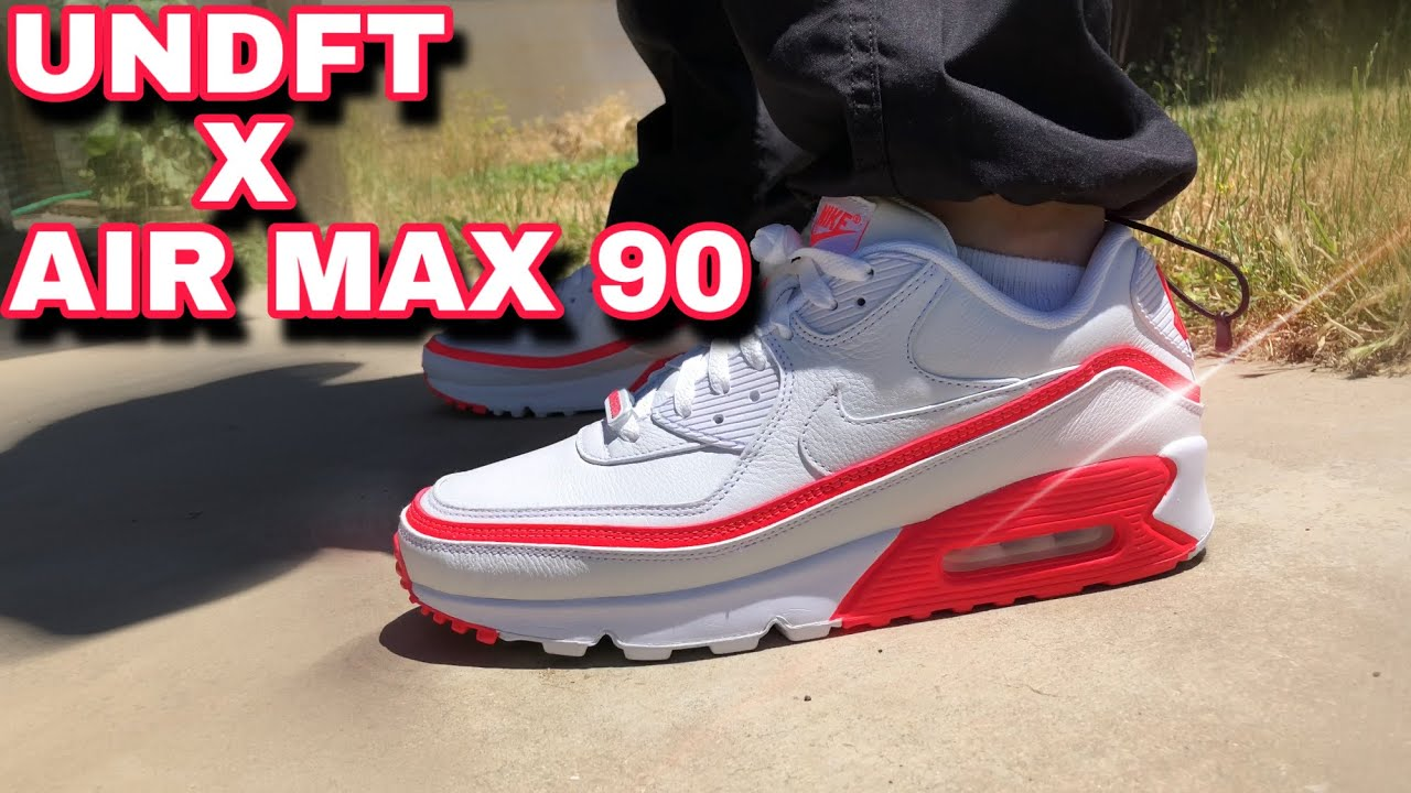 UNDEFEATED X AIR MAX 90 SOLAR RED