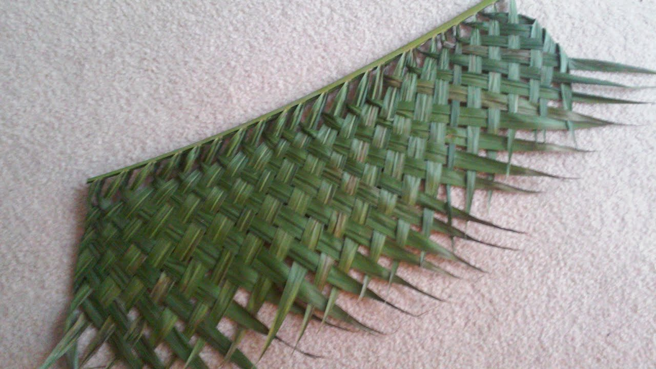 Palm Weaving W The Urban Abo Double Sided Weave Version
