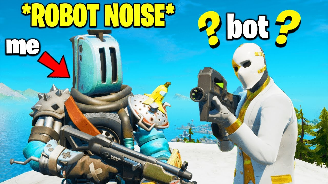 I Pretended to be a ROBOT HENCHMEN (Fortnite)