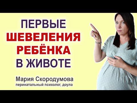 Когда ощущаются первые шевеления ребенка в утробе?