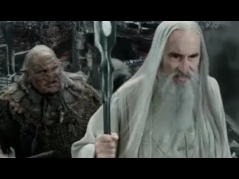 Sarumans DEMISE  UrukHai fail at Helms Deep Fall of Isengard LOTR