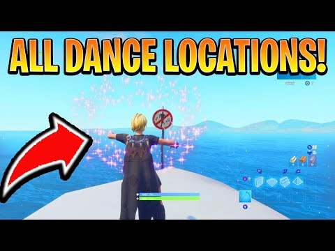 DANCE IN DIFFERENT FORBIDDEN LOCATIONS – ALL 7 LOCATIONS ( Fortnite Season 7 Week 1 Challenges)