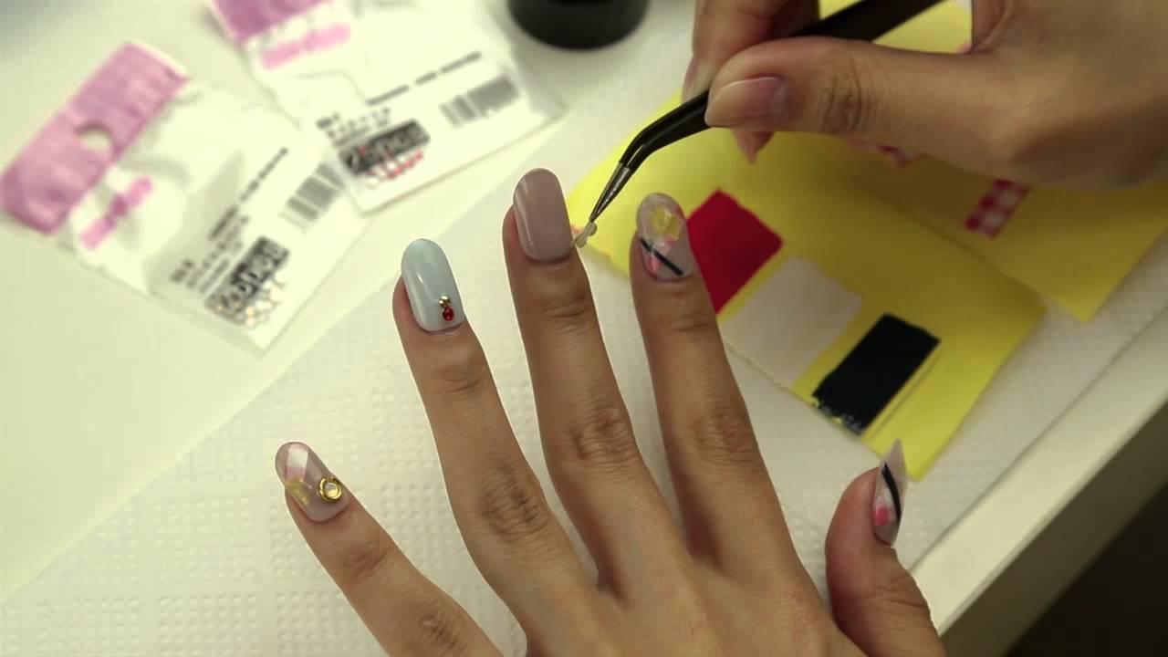 100均でそろう!簡単にできるネイルシールの作り方と貼り方 nail art tutorial 【ネイルアート・パーツアート編】
