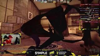 Симпл тренируется на дезматче перед играми Team NaVi player s1mple play DM (DeathMatch) CS:GO