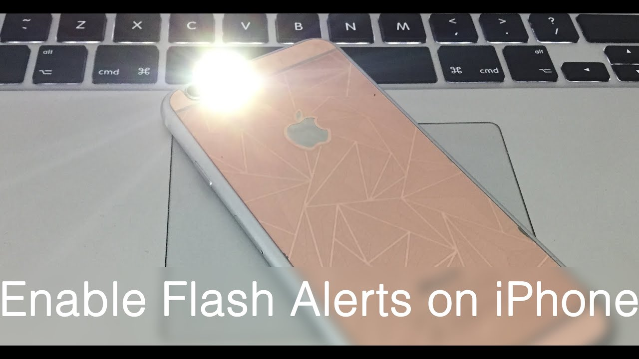 how to enable led flash alerts on iphone 8 x 7 6s 6 se 5s 5 5c 4s for calls messages youtube. Black Bedroom Furniture Sets. Home Design Ideas