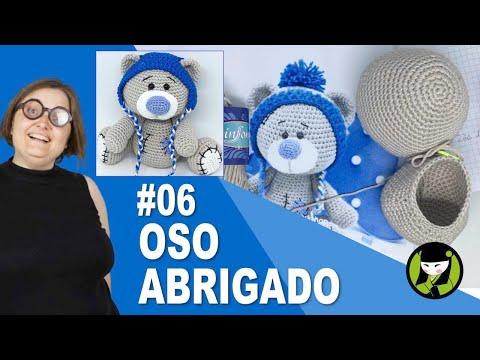 OSO NAVIDEÑO AMIGURUMI 06 oso tejido a crochet