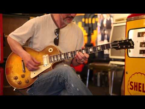 Marc Diglio plays a 1959 Gibson Les Paul Standard at Rumble Seat Music Southwest