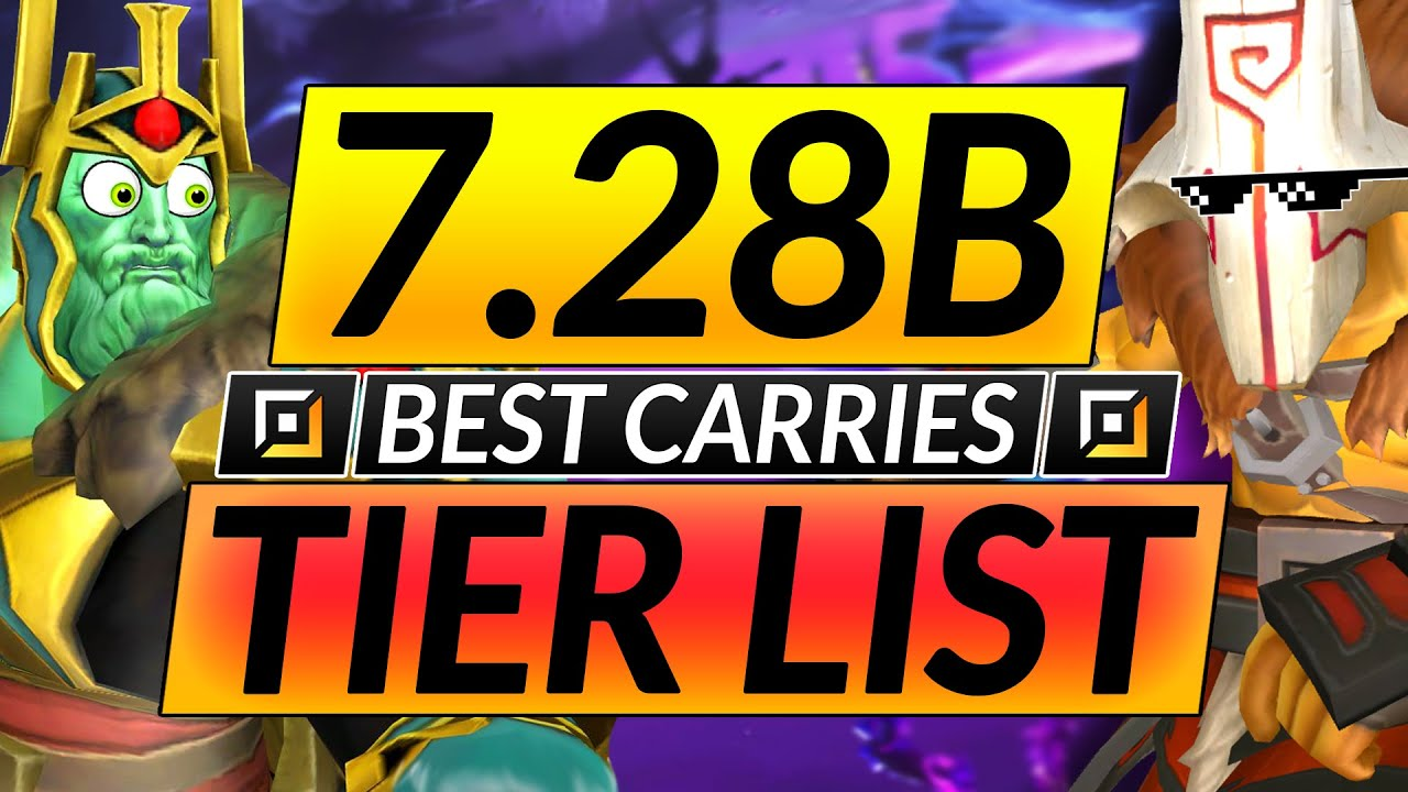 Best And Worst Carry Heroes Of The New Meta Tier List Guide 7 28b Dota 2 Update Youtube