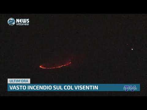 News Vittoriesi - Vasto incendio sul Col Visentin