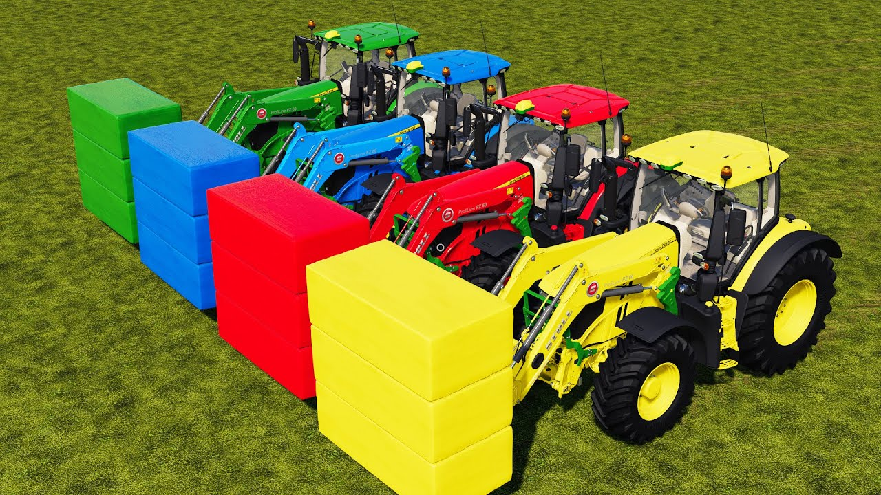 COUNTRY OF COLORS ! HAY SILAGE BALING & SELLING WITH FRONT AUTO LOADER !! Farming Simulator 19