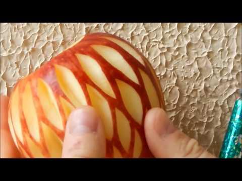 Lesson 27, Carving, การแกะสลักผลไม้, 水果雕刻, Ukiran buah, 果物のカービング, Khắc trái cây, naik ukiran, 조각 장미