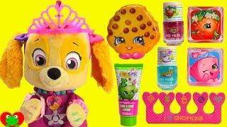 Paw Patrol Skye Princess Makeover Shopkins Makeup
