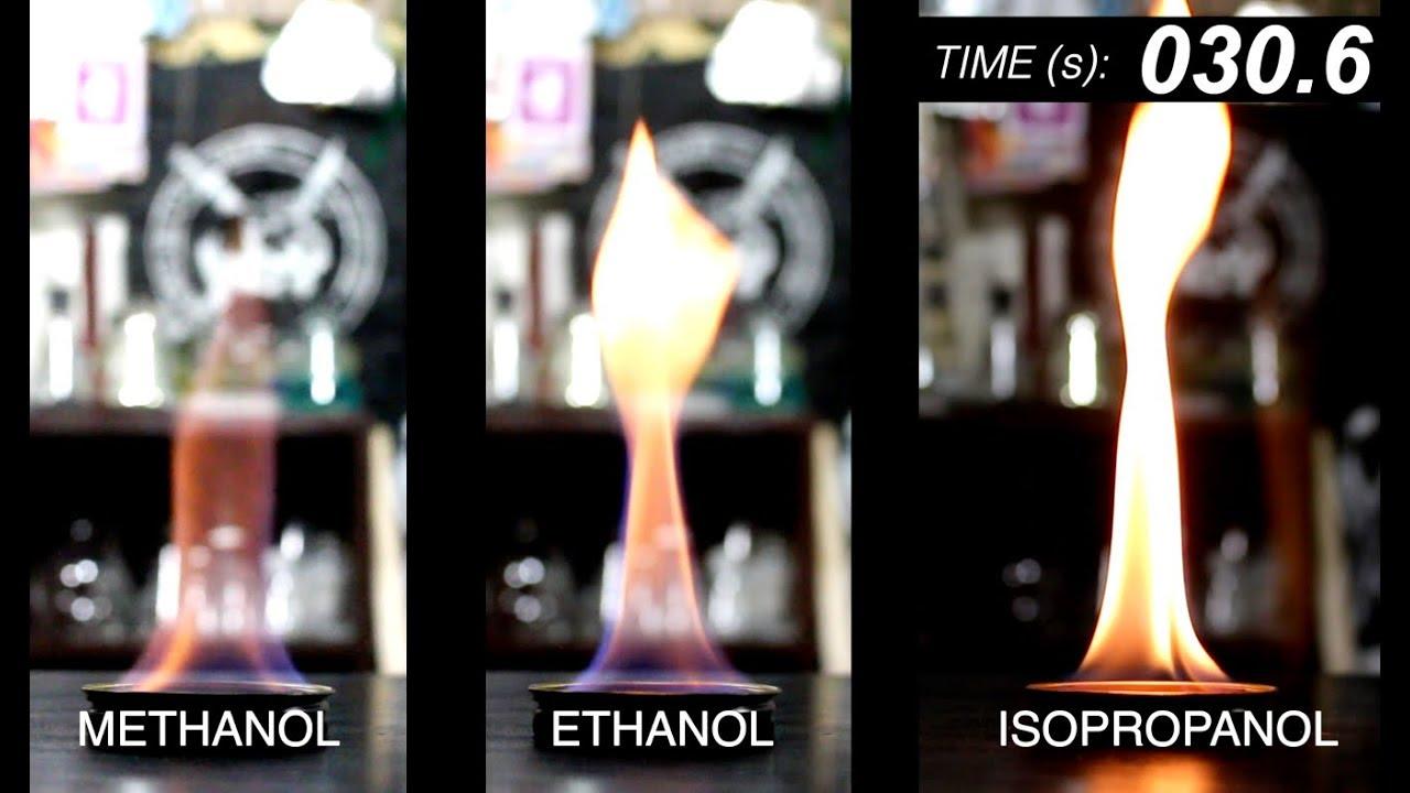 Methanol Vs Ethanol >> Alcohol Comparison Methanol Vs Ethanol Vs Isopropanol