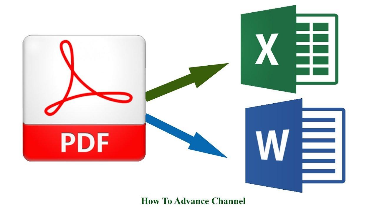 Làm Thế Nào Chuyển Từ File PDF Sang Word Excel