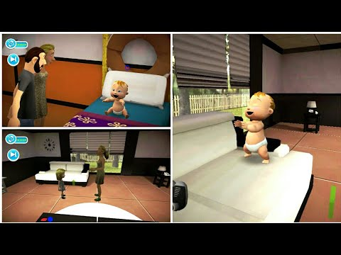 Playing Virtual Baby Mother Simulator Family Game. Naughty Babysitter. Part#1