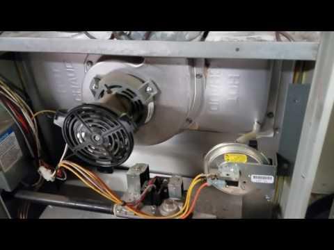 Trane furnace air pressure switch error